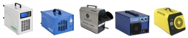 Ózongenerátorok, lakossági szintű szolgáltatásokhoz.