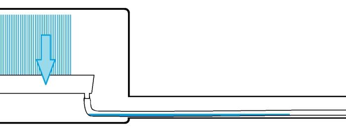metszeti rajz a kondenzvíz elvezetéséről.